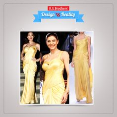 Stylish Look! #SushmitaSen in beautiful plain gold color saree gown with half shoulder backless blouse.  (Image copyrights belong to their respective owners)