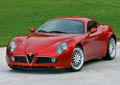 Alfa Romeo 8c in red you are such a pretty car.