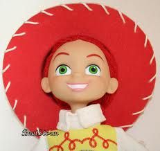 TOY STORY ORIGINAL JESSIE RAG DOLL WITH VINYL PLASTIC FACE AND HEAD Jessie  Toy Story Doll 8426b5862fd