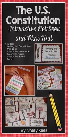 Constitution and Preamble Interactive Notebook and Mini Unit. Perfect for Constitution Day! My class will LOVE everything about this unit, including the mini booklet, the Constitution foldable, and the Preamble Puzzle. Can't wait to use the bulletin board 4th Grade Social Studies, Social Studies Classroom, Social Studies Activities, History Classroom, Teaching Social Studies, History Teachers, Teaching History, History Education, Classroom Tools