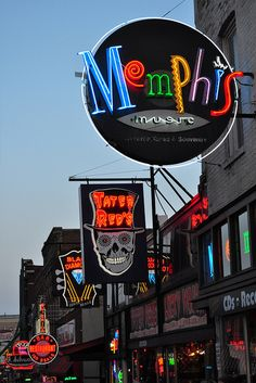 Neon on Beale Street by Jeremy Kendall, via Flickr