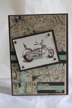 pinterest stamping cards | ... card , October afternoon Thrift shop , stampin up motorbike stamp
