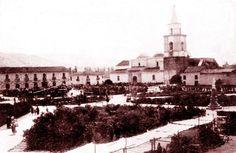 Plaza de armas de Huanuco a inicios del siglo XX.