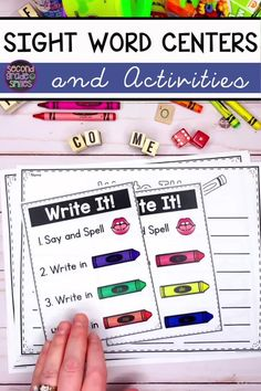 Need center activities for teaching high frequency word reading or spelling in kindergarten, grade, or grade? Check out these fun, hands-on activities for learning sight words! Visual direction pages guide your littlest learners to work independently! Teaching Second Grade, 2nd Grade Reading, Word Reading, Guided Reading, Learning Sight Words, First Grade Sight Words, High Frequency Words Kindergarten, Kindergarten Sight Words List, Spelling Word Practice