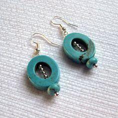 Oval Howlite Earrings  http://www.etsy.com/listing/93139033/oval-howlite-and-silver-earrings