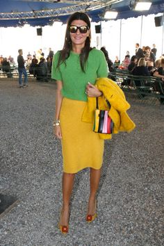 Giovana Battaglia attends the Nina Ricci show as part of the Paris Fashion Week Womenswear Spring/Summer 2018 on September 29 2017 in Paris France