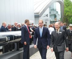 HRH #PrinceWilliam The Duke of Cambridge and Vice Admiral Sir Tim McClement KCB OBE walking towards the Alliance Centre after having enjoyed a tot of rum