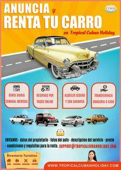 Anuncia tus servicios de transportes con www.tropicalcubanholiday.com  Classic cars  - carros clasicos Carros modernos Cuba