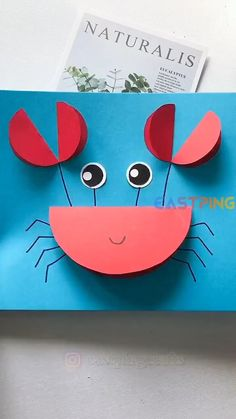 Animal Crafts For Kids, Paper Crafts For Kids, Toddler Crafts, Diy For Kids, Daycare Crafts, Preschool Crafts, Creative Crafts, Easy Crafts, Origami Easy