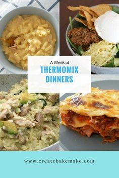This post contains a week of family friendly Thermomix dinners and includes favourites like Thermomix Mexican Beef Bowls, Thermomix Lasagna and more!
