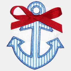 Anchor Machine Embroidery Applique Design by SimplySweetEmbroider, $4.00