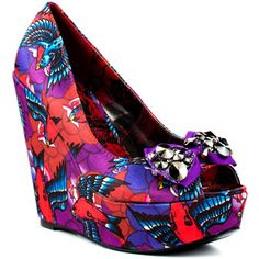 Havana Breeze Wedge - Purple by Iron Fist colorful print graphic wedges