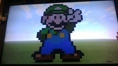 Minecraft Pixel Art Mario (Luigi)