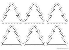 Arbolitos de Navidad para imprimir y recortar