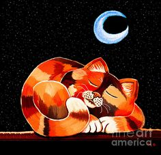 Calico In The Moonlight. Artist:Nick Gustafson