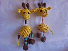 CANAL CROCHET: Llavero jirafa amigurumi patrón libre.
