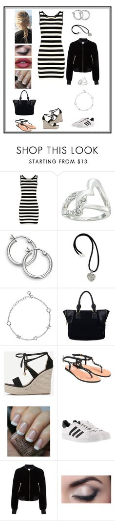 """""""Untitled # 386"""" by binasa87 ❤ liked on Polyvore featuring GUESS, NOVICA, Hot Diamonds, WithChic, OPI, adidas and T By Alexander Wang"""