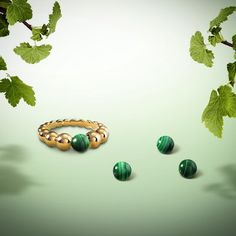 """""""An opaque stone graced with unique beauty, malachite evokes the force of nature with its deep green hue. Worn as a talisman in days gone by, it was…"""""""
