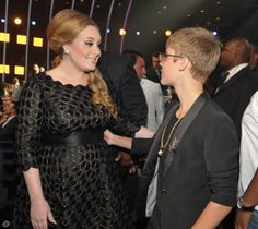 Adele & Justin Bieber... Prolly best convo ever... I would die if I met these amazing people