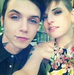 Andy Biersack and Julliet Simms...So adorable together