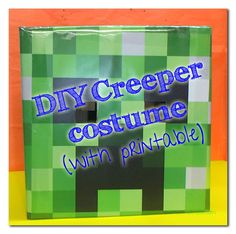 Does your kid love Minecraft? Then make this super comfy Minecraft Creeper Costume for Halloween or anytime play! Minecraft Halloween Costume, Creeper Costume, Minecraft Costumes, Spooky Halloween Costumes, Holidays Halloween, Halloween Themes, Halloween Party, Halloween 2014, Minecraft Birthday Party