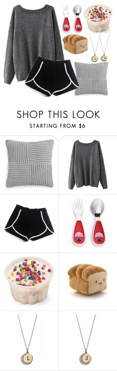 """Ice cream with my baby girl!!"" by jeanie-boyd ❤ liked on Polyvore featuring Hotel Collection, Skip Hop and cutekawaii"