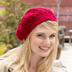 Yarnspirations is the spot to find countless free easy crochet patterns, including the Red Heart Bridgette Beret. Browse our large free collection of patterns & get crafting today! Crochet Beret Pattern, Knitted Beret, Knitted Headband, Crochet Patterns, Crochet Ideas, Crochet Projects, Crochet Designs, Crochet Animal Hats, Crochet Adult Hat