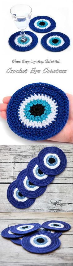 Crochet Eye Coasters