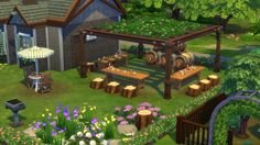 Public Gardens  • Type: Community (Park)  • Lot Size: 50 x 50  • CC-free  Public Gardens is a lush plant-filled community park with a small pub and various activities for the whole family.  Due to the lot...