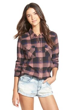 RVCA'Wanted' Plaid Flannel Shirt | Nordstrom