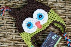 Free owl earflap crochet hat pattern