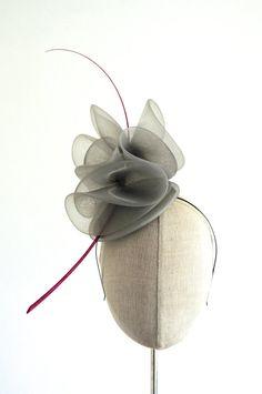 Grey Crin Cocktail Hat