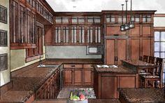Craftsman Kitchen Plan