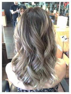 ombre ash brown with balayage ash blonde highlites