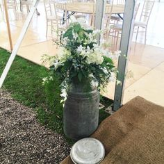 Wedding milk churn idea