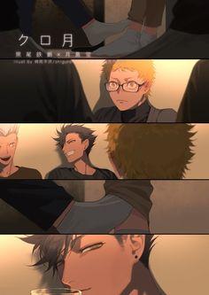 Pin on Anime bilder Kuroo Haikyuu, Haikyuu Manga, Tsukishima Kei, Kuroo Tetsurou, Haikyuu Fanart, Anime Manga, Anime Guys, Iwaoi, Bokuaka