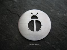 Round Sterling Custom Design Stamping Disc--Lady bug 2 Cut Out