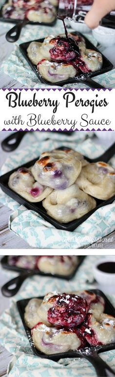 Blueberry Perogies with Blueberry Sauce via @thislilpiglet