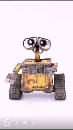 Newly painted Wall-E engagement ring box Ring Boxes, Wall E, Engagement Rings, Enagement Rings, Wedding Rings, Diamond Engagement Rings, Engagement Ring