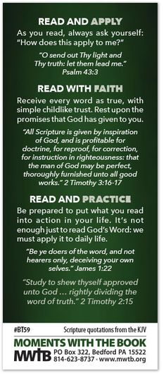 """Seek ye out the Book of the Lord, and read."" Isaiah 34:16 The Bible is our daily guide for life.To follow God's will, we must read it! Here are some suggestion"