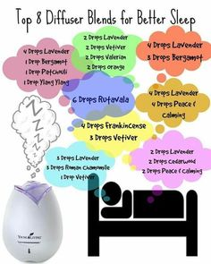Top 8 Young living essential oil diffuser blends for a better nights sleep for you and your kids. remedies for anxiety remedies for sleep remedies high blood pressure remedies simple remedies sinus infection Essential Oils 101, Essential Oils For Sleep, Essential Oil Diffuser Blends, Young Living Essential Oils, Relaxing Essential Oil Blends, Essential Oils For Depression, Diffuser Recipes, Aromatherapy Oils, Aromatherapy For Sleep