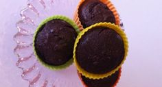 Muffins de chocolate Dukan - ovos, iogurte, leite desnatado, farelo de aveia, leite em pó, cacau