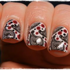 Creative Nail Design by Sue: Digit-al Dozen Does it Again-Festiveness Ribbons