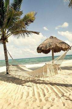 Beach time in a Hammock swinging away the day...