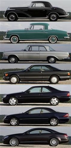 Evolution of the Mercedes Coupé. 1952-2007