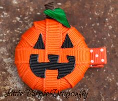 Download Halloween Pumpkin Hair Clip Sewing Pattern | Featured Downloadable Sewing Patterns | YouCanMakeThis.com