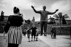 Statue of Nelson Mandela in Pretoria, South Africa. by Mads Norgaard