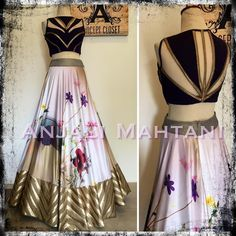 Making a statement with this Anjali maharani mahtani Western Dresses, Indian Dresses, Indian Outfits, Indian Clothes, Lehenga Designs, Saree Blouse Designs, India Fashion, Ethnic Fashion, Indian Attire