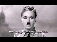 O que mais me impressiona nesse vídeo não são as palavras e sim o olhar de Chaplin.