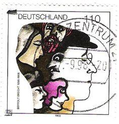 Literature on Stamps: Bertolt Brecht